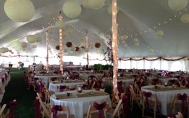 Suttons Bay Wedding Tent Rental